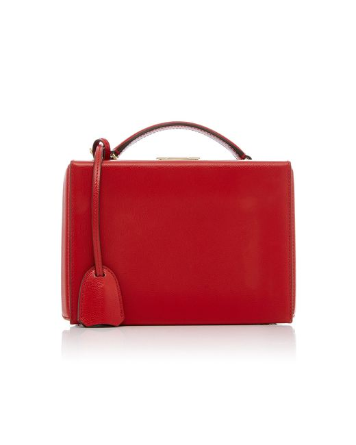 Mark Cross - Red Grace Small Caviar Leather Box - Lyst
