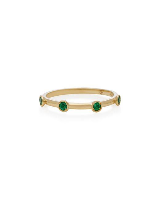 Octavia Elizabeth - Green 18k Gold Emerald Ring - Lyst