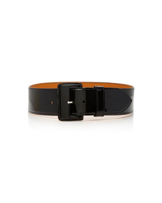 Maison Vaincourt - Black Exclusive Patent-leather Belt - Lyst