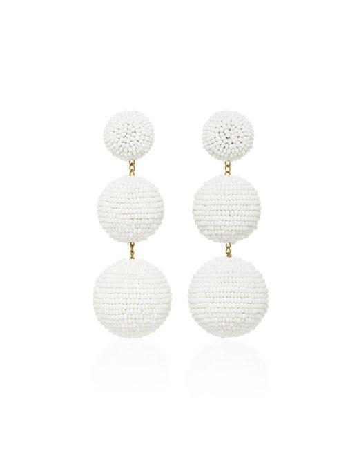 Rebecca de Ravenel | White Classic Short Earrings | Lyst