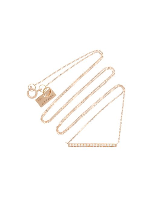 Vanrycke - Pink Medellin 18k Rose Gold Diamond Necklace - Lyst