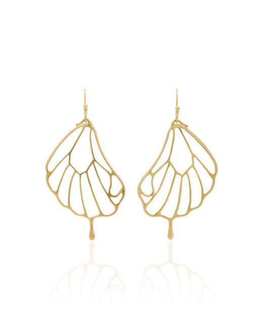Annette Ferdinandsen - Metallic 18k Gold Pampion Wing Earrings - Lyst