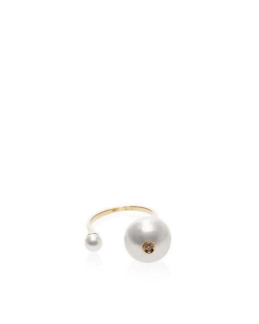 Delfina Delettrez | White Trillion Ring | Lyst