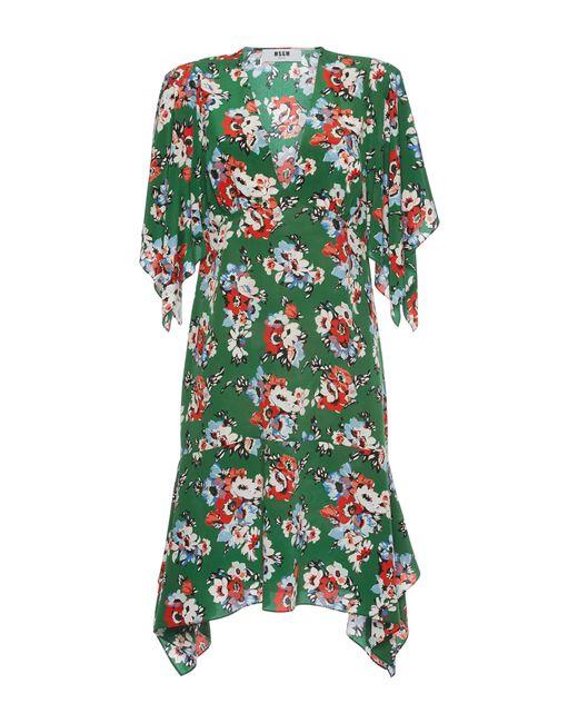 MSGM | Blue Cat Print Shift Dress | Lyst