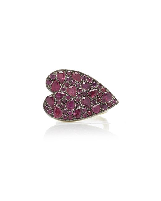 Sylva & Cie - Red 18k Gold, Sterling Silver And Ruby Ring - Lyst