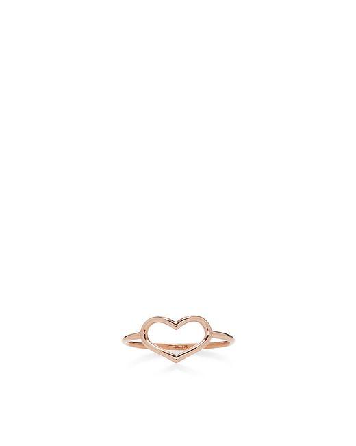 Jordan Askill | Pink Rose Gold Delicate Heart Ring | Lyst