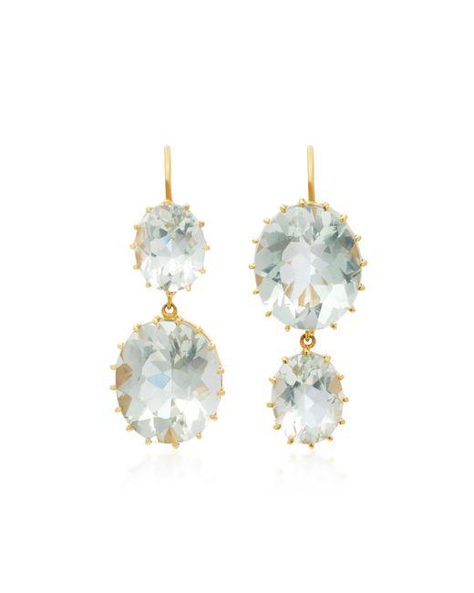 Renee Lewis   Blue 18k Gold Aquamarine Earrings   Lyst