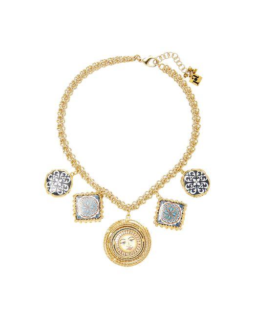 Rosantica | Metallic Ciucciue Gold-tone Brass And Ceramic Necklace | Lyst