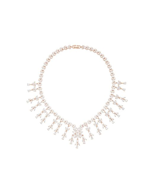 Fallon   Metallic Monarch Weeping Fern Metal And Crystal Necklace   Lyst