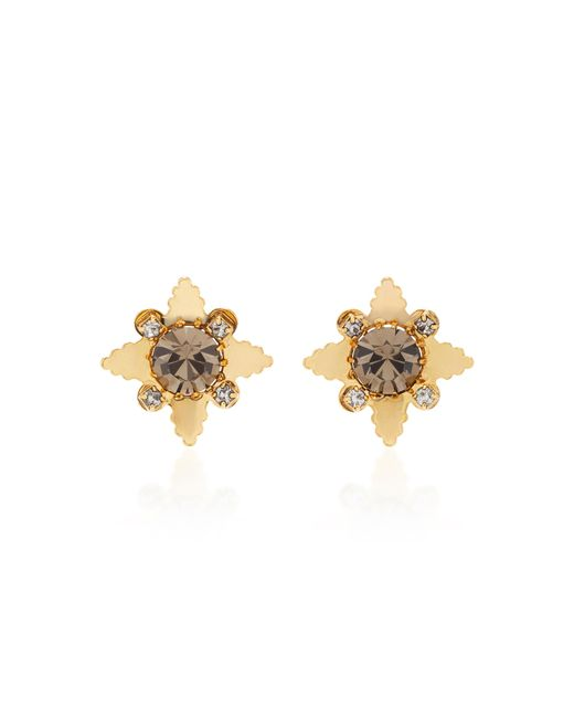 Nicole Romano - Metallic 18k Gold-plated Star Crystal Stud Earrings - Lyst