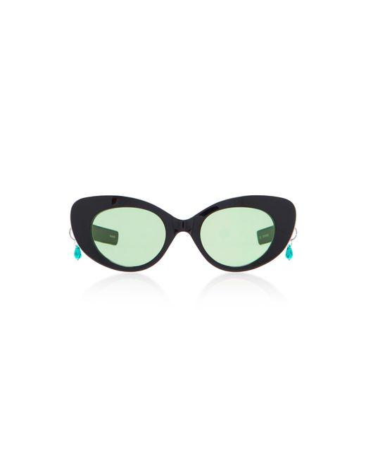 Pared Eyewear - Black M'o Exclusive Poms & Pared Acetate Cat-eye Sunglasses - Lyst