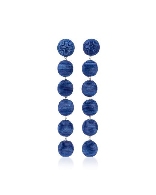 Rebecca de Ravenel   Blue Six Drop Skinny Earrings   Lyst