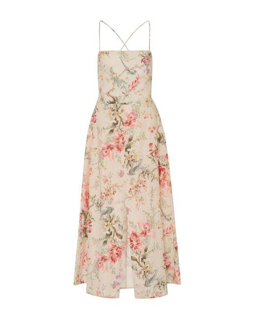 Zimmermann | Multicolor Mercer Floral-print Cotton-blend Dress | Lyst