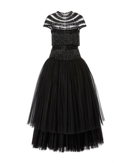 Naeem Khan | Black Tea Length Cocktail Dress | Lyst