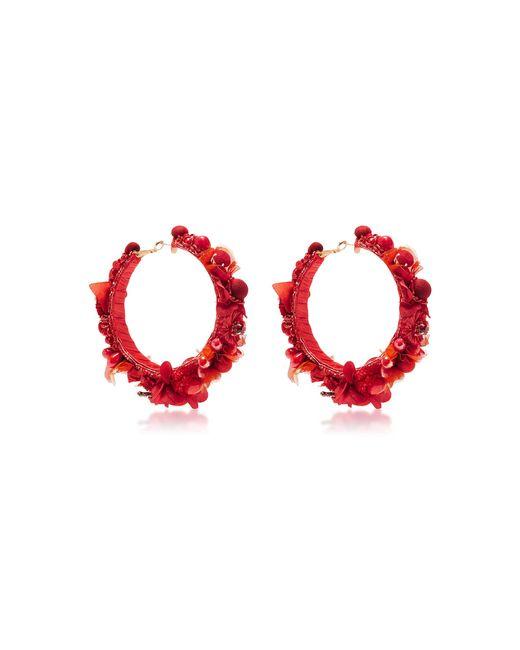 Ranjana Khan | Red Hoop Earrings | Lyst
