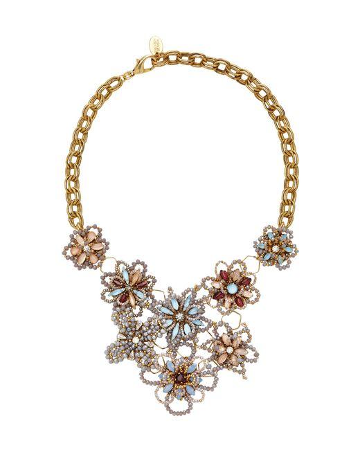 Erickson Beamon | Metallic Wild Flower Crystal Necklace | Lyst