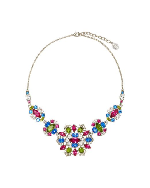 Ben-Amun   Multicolor Silver-tone Crystal Necklace   Lyst
