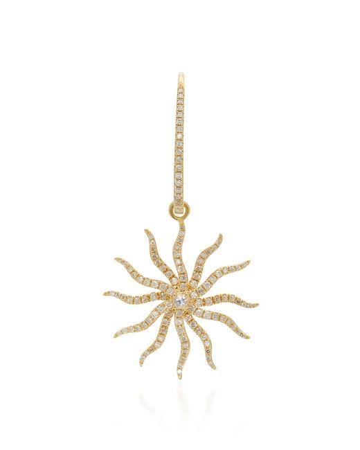 Yvonne Léon   Metallic Maxi Bo Chams 18k Gold, Diamond And Sapphire Earring   Lyst