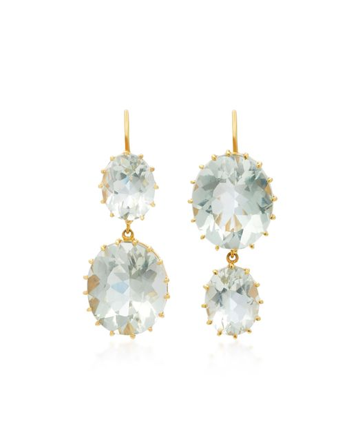 Renee Lewis | Blue 18k Gold Aquamarine Earrings | Lyst