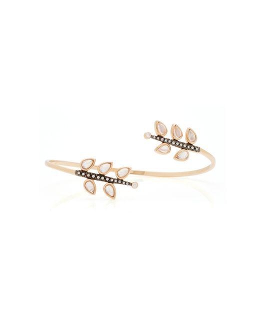 Misahara | Metallic Reflection 18k Rose Gold Rainbow Moonstone Bracelet | Lyst