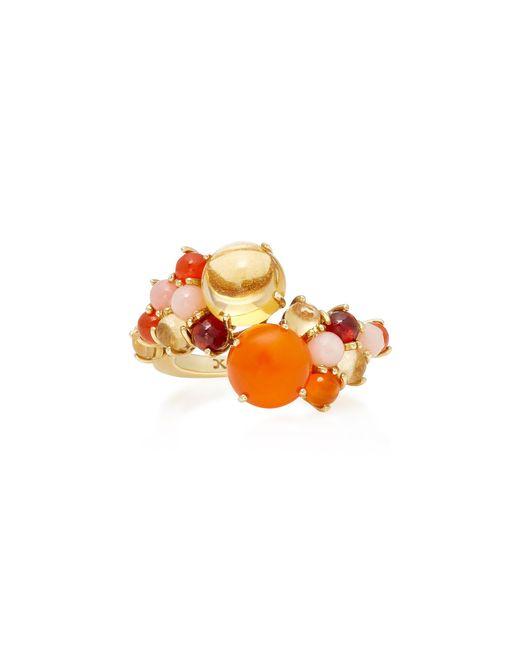 Daria de Koning | Orange Dagny 18k Yellow Gold Multi-stone Stacking Ring | Lyst
