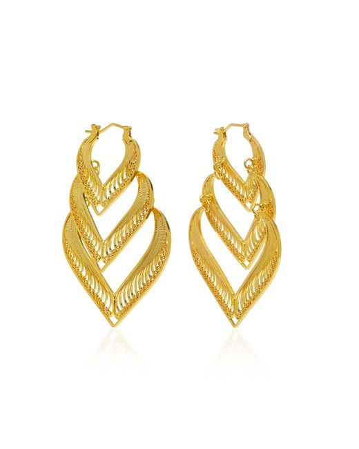 Mallarino - Metallic Kora Sterling Silver And 24k Gold Vermeil Earrings - Lyst