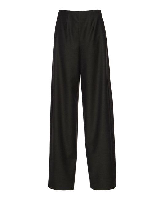 f6a37ee065ad4 Agnona - Green Wool-blend Wide-leg Pants - Lyst ...
