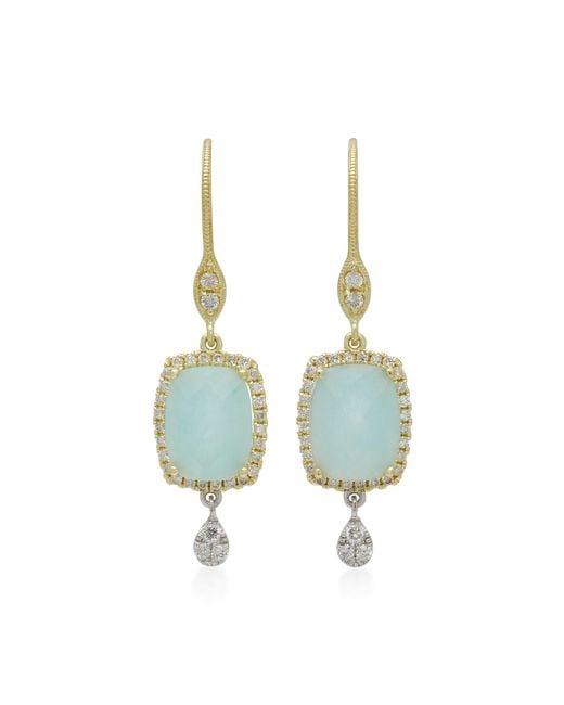 Meira T | Blue Infinity 14k Gold, Amazonite And Diamond Earrings | Lyst