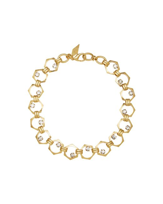 Nicole Romano | Metallic 18k Gold-plated Bolt Crystal Necklace | Lyst