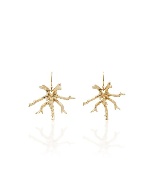 Annette Ferdinandsen - Metallic Coral Stick Cluster 14k Gold Earrings - Lyst