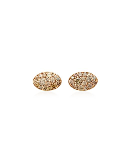 Colette | Pink Baby Les Chevalieres 18k Rose Gold Diamond Earrings | Lyst