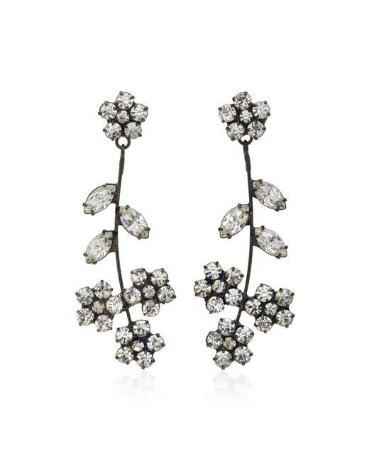 Jennifer Behr | Metallic Violet Gunmetal-plated Swarovski Crystal Earrings | Lyst