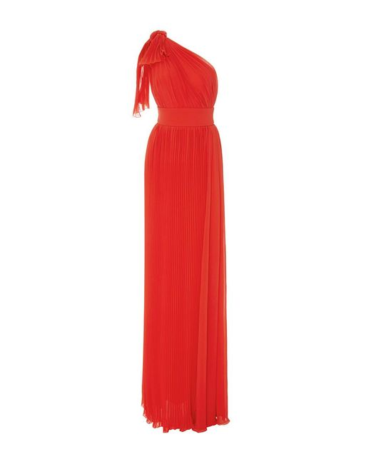 Elie Saab | Red One Shoulder Asymmetrical Dress | Lyst