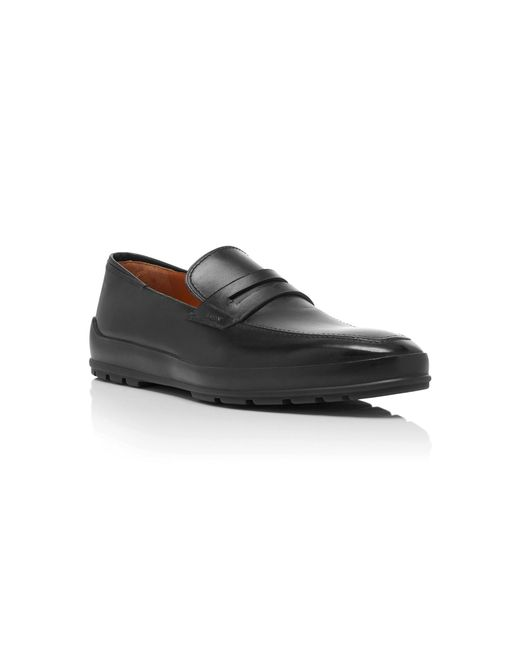 e55f841608f ... Bally - Black Relon Calfskin Penny Loafers for Men - Lyst ...
