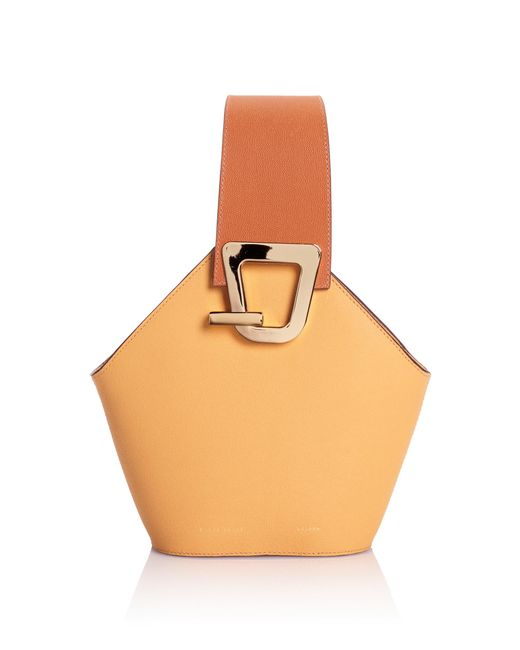 Danse Lente - Yellow Mini Johnny Leather Bucket Bag - Lyst