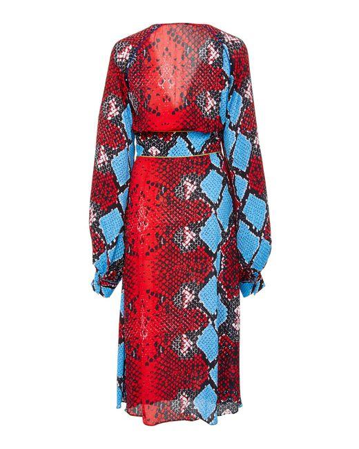 eb76dfd2 ... Stella Jean - Red Snake Midi Dress - Lyst ...