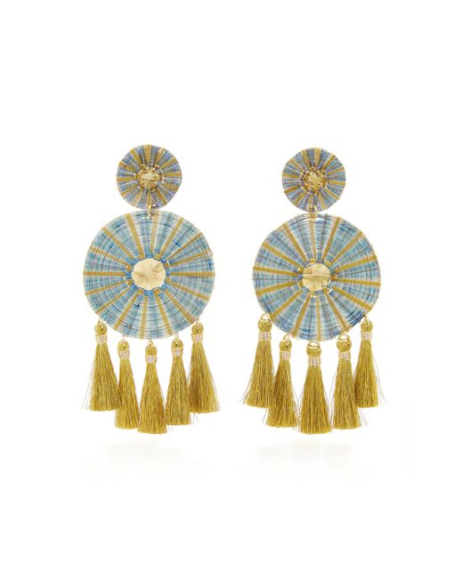 Mercedes Salazar - Blue Yui Tasseled Gold-plated Earrings - Lyst