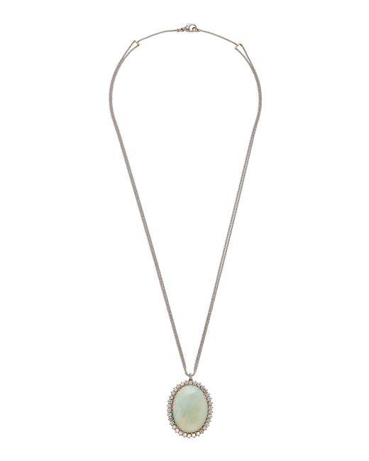 Renee Lewis - White 18k Gold, Opal, And Diamond Necklace - Lyst