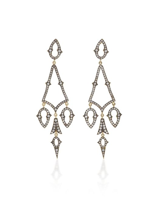 Sylva & Cie - Metallic Gypsy 18k Gold And Diamond Earrings - Lyst
