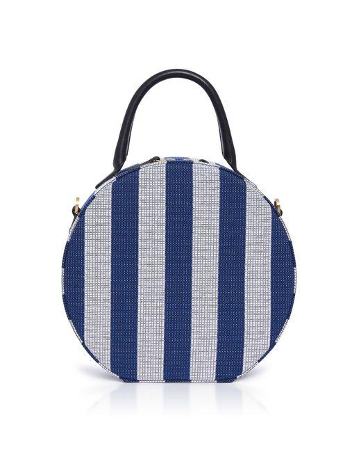 Mansur Gavriel - Blue Mini Circle Striped Bag - Lyst