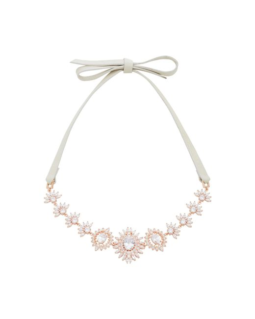Fallon   Pink Monarch Eye Of Dana Crystal And Rose Gold-plated Choker   Lyst