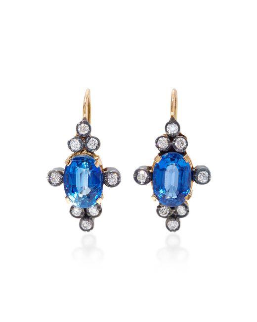 Montse Esteve | Blue 18k Gold, Kyanite And Diamond Earrings | Lyst