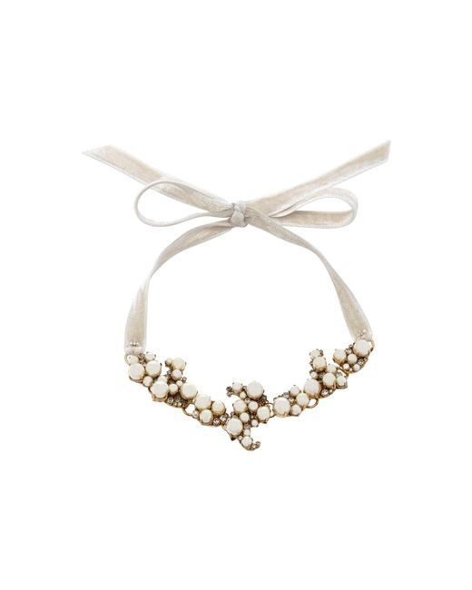 Erickson Beamon | White Dancing Queen 24k Gold-plated Crystal And Pearl Necklace | Lyst