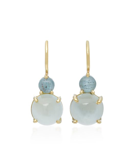 Daria de Koning | Blue Dagny Tiny Two Stones 18k Gold Earrings | Lyst