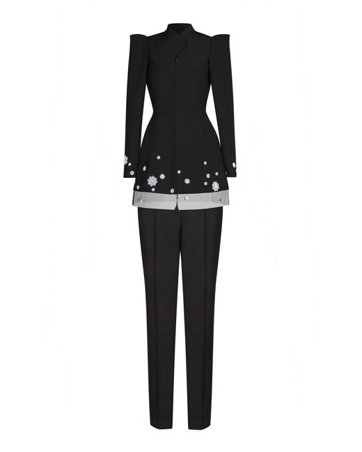 Yanina Demi Couture - Black Wool Suit - Lyst
