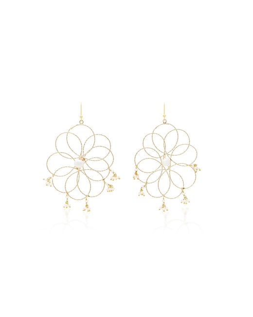 Rosantica | White Cosmo Gold-tone Pearl Earrings | Lyst