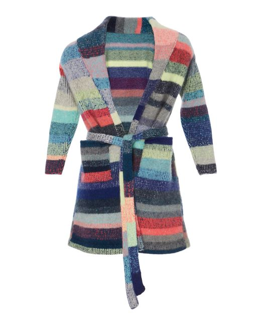 The Elder Statesman - Pink Kids Striped Cashmere Robe With Teddy Bear - Lyst