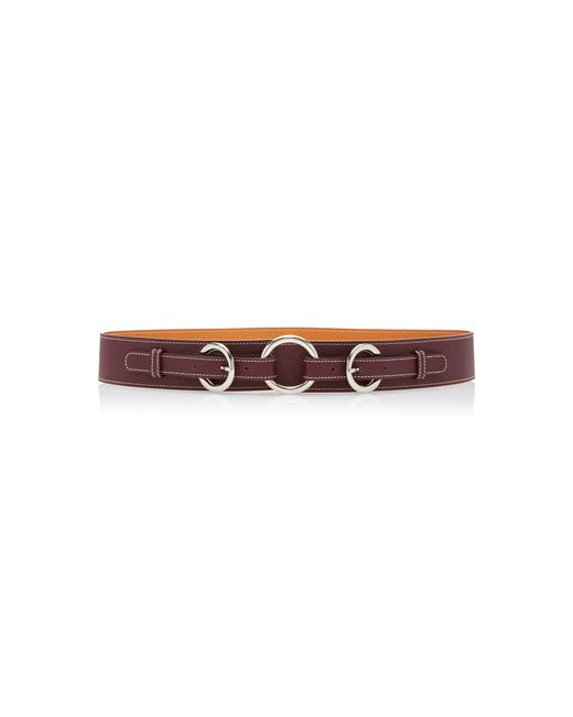 Maison Vaincourt - Brown Exclusive Equestrian Ring Textured-leather Belt - Lyst