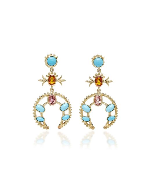 Marlo Laz - Metallic Squash Blossom Earrings - Lyst