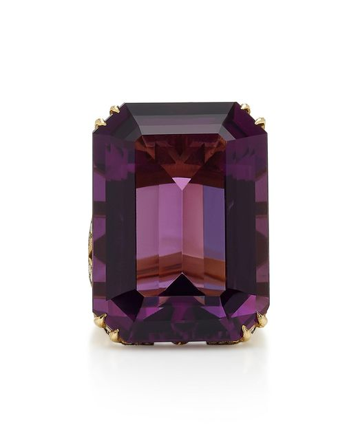 Sylva & Cie - Purple 18k Gold, Amethyst And Diamond Ring - Lyst